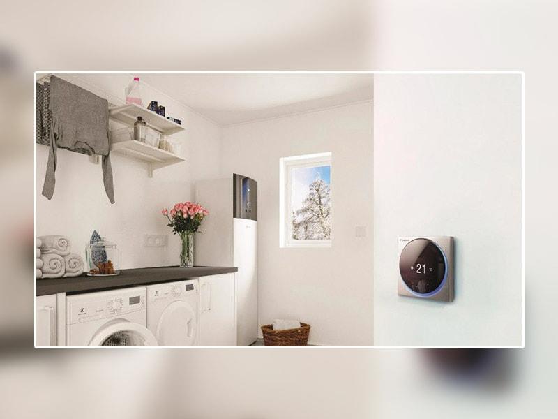 Pompe à chaleur air/eau Daikin Altherma 3H moyenne température 60°C au R-32 pour tous les projets de remplacement ou de relevé de chaudières gaz ou fioul
