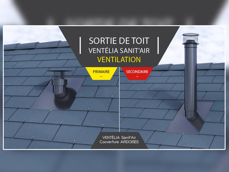 VENTÉLIA SANIT'AIR, sorties de toit pour la ventilation des réseaux d'assainissement par Cheminées Poujoulat
