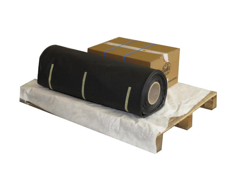 Assainissement traditionnel: kit pour filtre à sable vertical drainé avec géomembrane PVC 1,05mm 1300g/m2