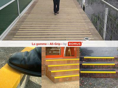 Romus® sécurise vos sols et accès avec la gamme « ALL-GRIP » Batiweb