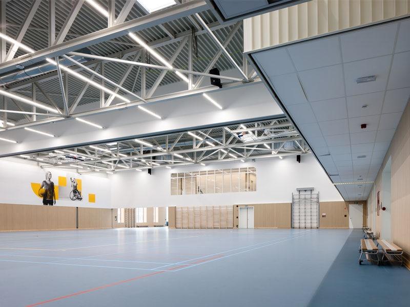 Type M L Line, isolation acoustique d'une salle de sport