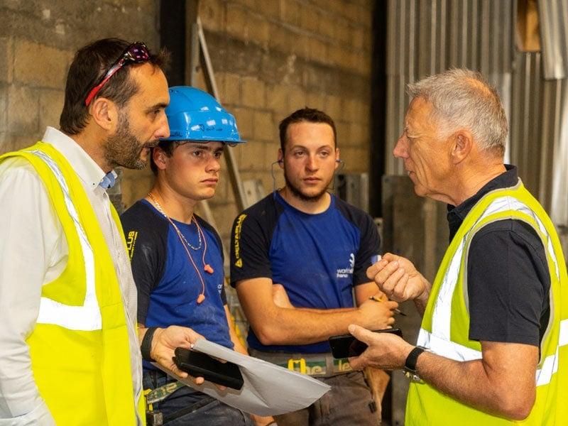 L'Équipe de France WorldSkills métier Construction Béton Armé chez Doka France