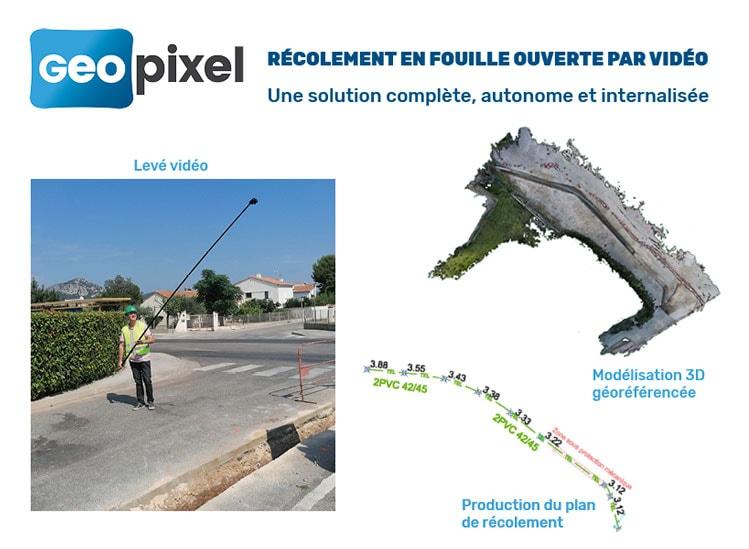 Geopixel simplifie et optimise le récolement en fouille ouverte par vidéo