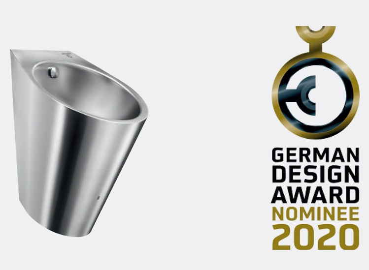 Urinoir INOX HYBRIDE HYBRIMATIC FINO - Nominé pour le German Design Award 2020 - Batiweb