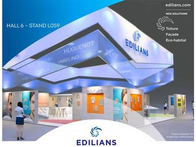 Pour sa 1ère participation au Mondial du Bâtiment sous son nouveau nom, EDILIANS met en lumière ses innovations au service d'une construction esthétique et durable Batiweb