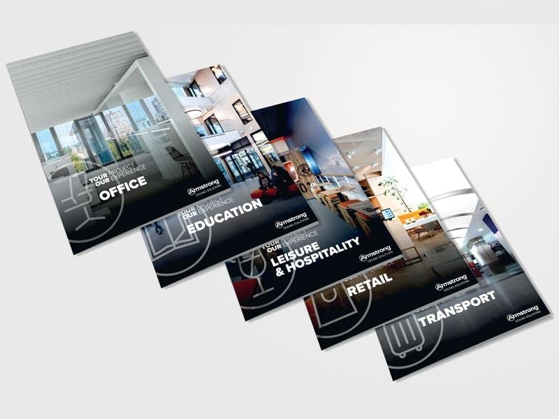 ARMSTRONG CEILING SOLUTIONS dévoile 5 nouvelles brochures : à chaque segment d'application son guide de choix plafonds