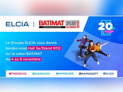 Nouveautés produits, Web, 3D et anniversaire : le Groupe ELCIA donne rendez-vous aux professionnels Menuiserie, Store et Fermeture sur Batimat Hall 5A Stand N112 Batiweb