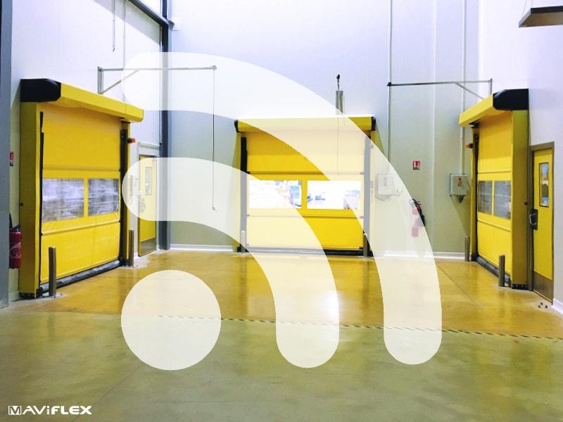 Maviroll Connect, la porte rapide connectée By Maviflex®
