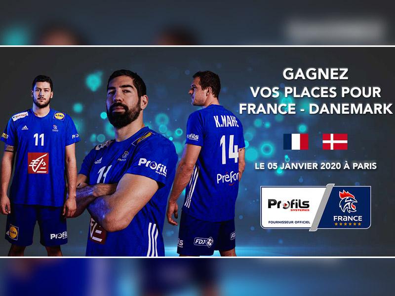 """Jeu-Concours Facebook : """"Gagnez vos places pour le match de handball France-Danemark"""" - Batiweb"""