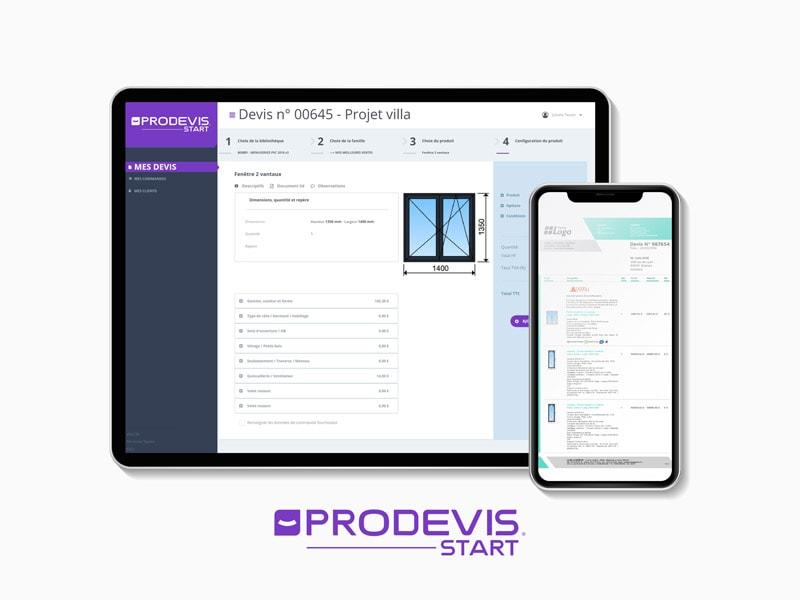 ProDevis START : l'application qui simplifie la création de devis Menuiserie pour les Artisans - Batiweb
