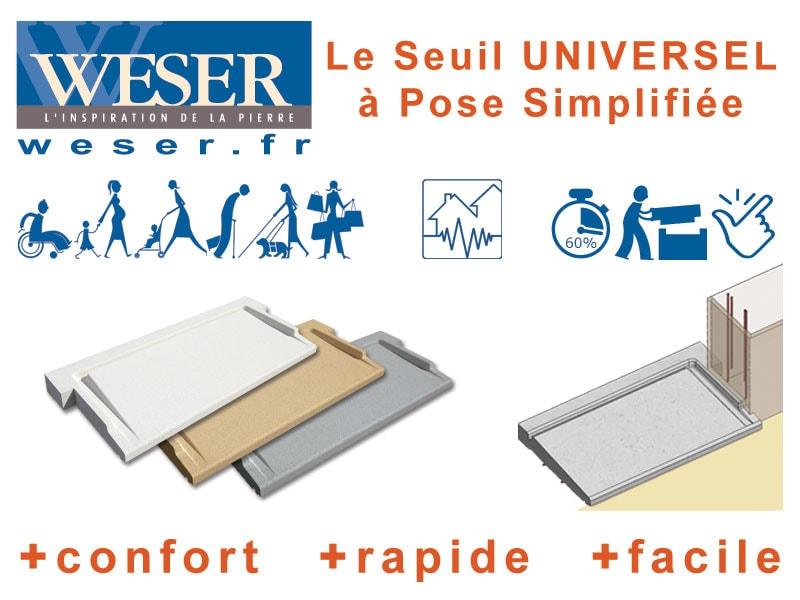Le «seuil UNIVERSEL» à pose simplifiée : La réponse aux besoins de franchissement - Batiweb