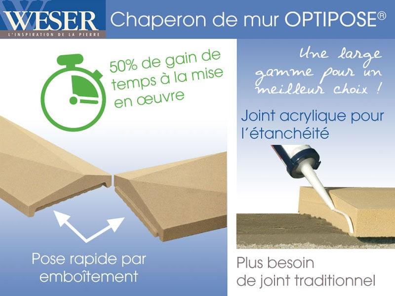 Toute la gamme de chaperons pressés Weser bénéficie désormais du système Optipose® - Batiweb
