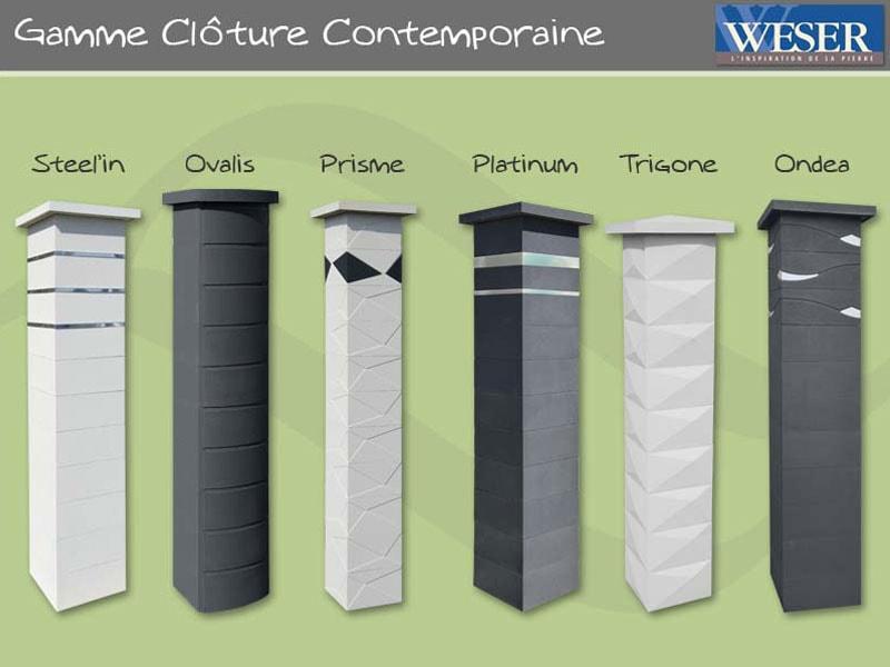 Les Poteaux de clôture Gamme Contemporaine Weser - Batiweb