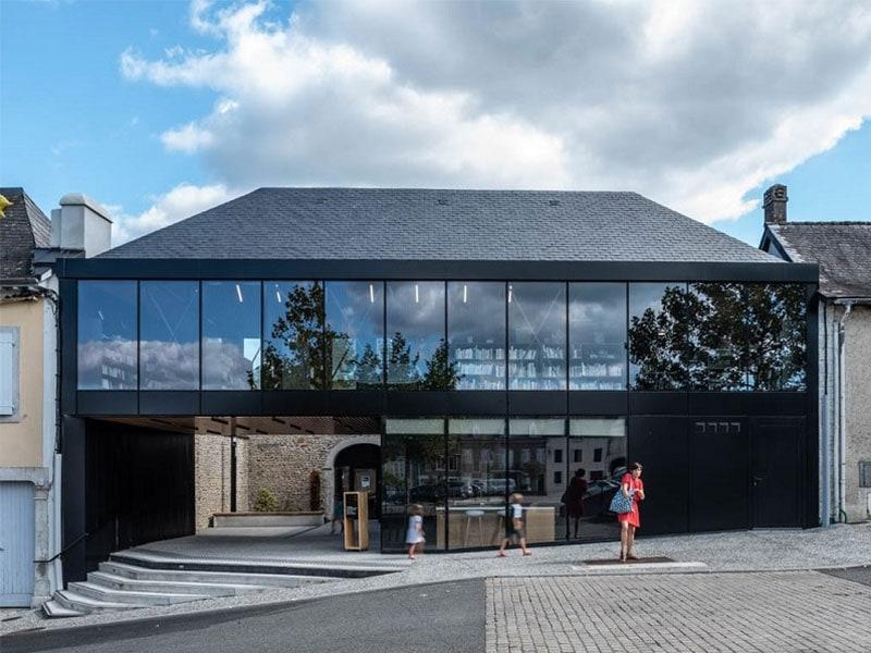 La nouvelle médiathèque à Monein - Batiweb