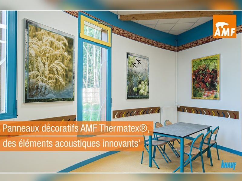 PANNEAUX MURAUXacoustiques et décoratifs : Le savoir-faire de KNAUF AMF - Batiweb