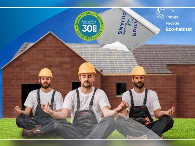 AERO TOP 30, le seul écran de sous-toiture qui garantit 30 ans de sérénité avec les tuiles terre cuite EDILIANS ! - Batiweb