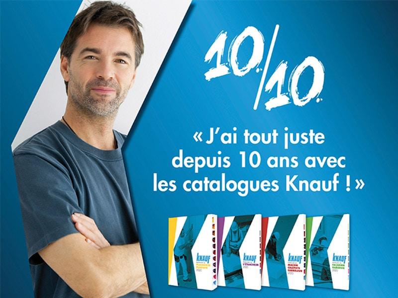 KNAUF célèbre les 10 ans de ses catalogues métiers ! - Batiweb