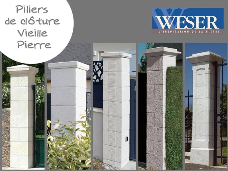 Les Kits portails et portillons Weser Vieille Pierre Batiweb