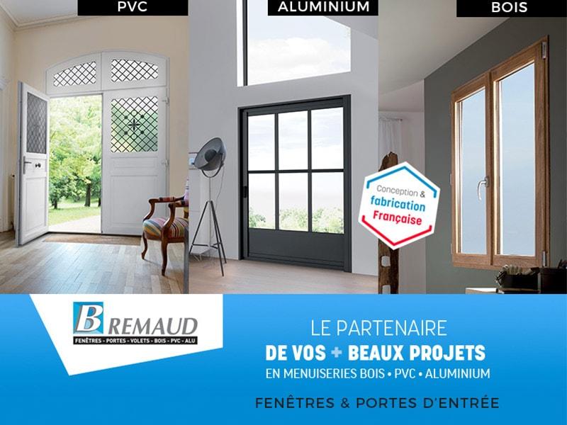 BREMAUD, spécialiste du 100 % sur mesure fabriqué en France, a repris depuis le 6 avril, l'ensemble de sa production de menuiseries et portes d'entrées BOIS, PVC et ALUMINIUM. - Batiweb