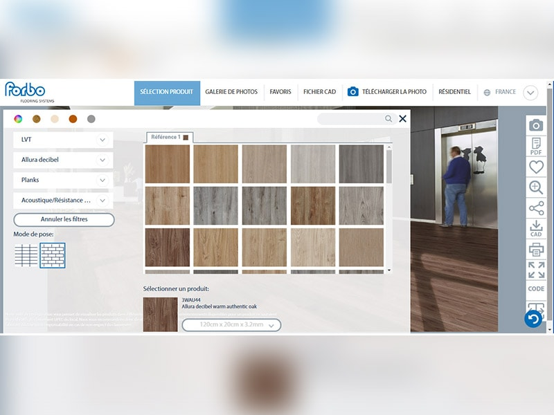 Le Floorplanner de FORBO FLOORING évolue : télécharger sa photo et visualiser son nouveau sol instantanément - Batiweb