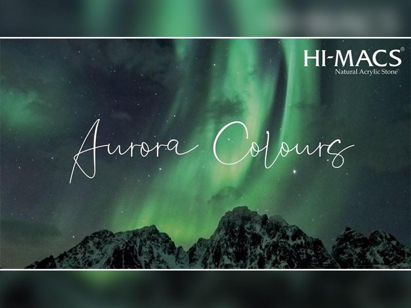 HI-MACS® présente les nouvelles couleurs Aurora issues de la Collection HI-MACS® Marmo, inspirées des aurores boréales - Batiweb