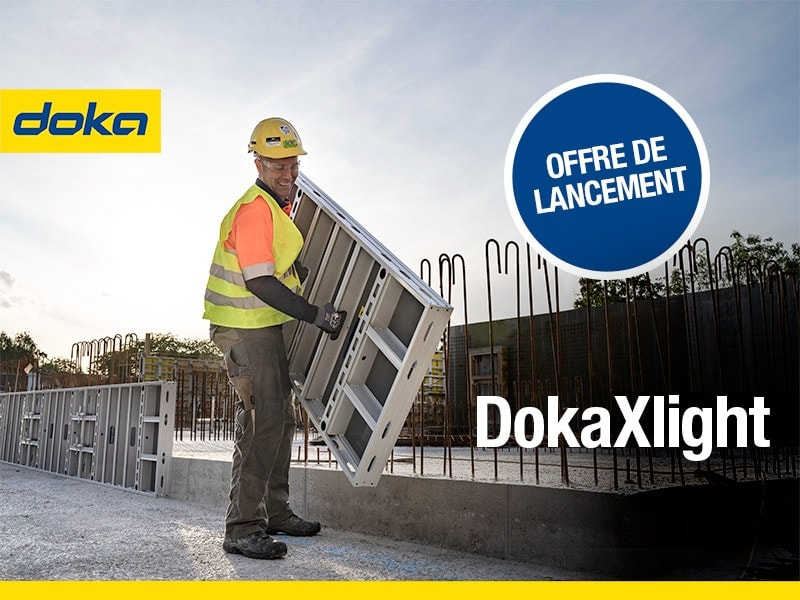 Léger, robuste et très facile d'utilisation, découvrez le nouveau coffrage-cadre manuportable en aluminium : DokaXlight - Batiweb