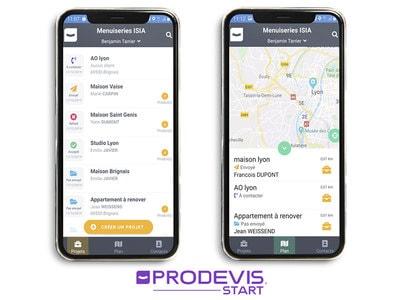 Nouveauté ! L'application mobile ProDevis START simplifie la prospection des Artisans Menuiserie, Store et Fermeture Batiweb