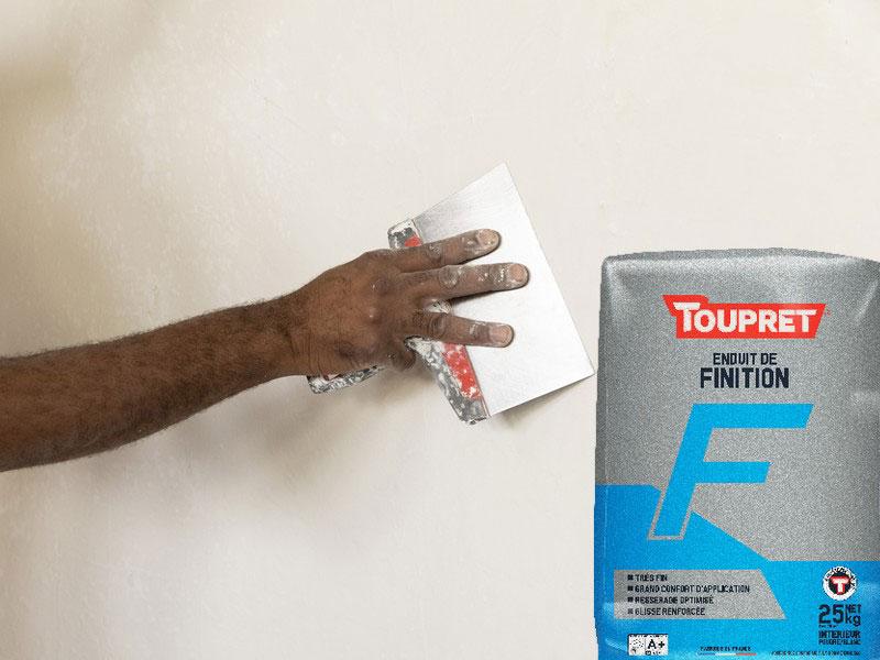enduit de finition en poudre TOUPRET F