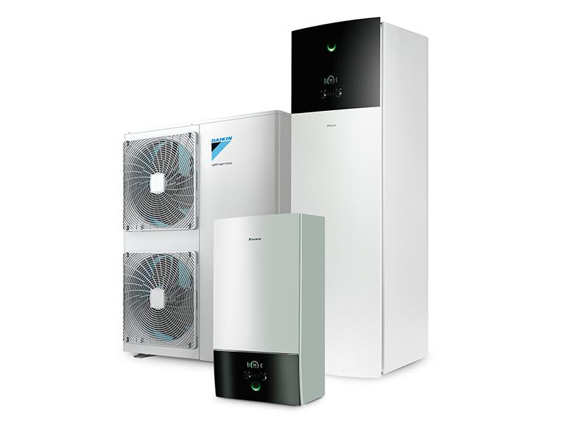 Pompe à chaleur air/eau DAIKIN Altherma 3 H Moyenne Température à 60°C au R-32 - Batiweb