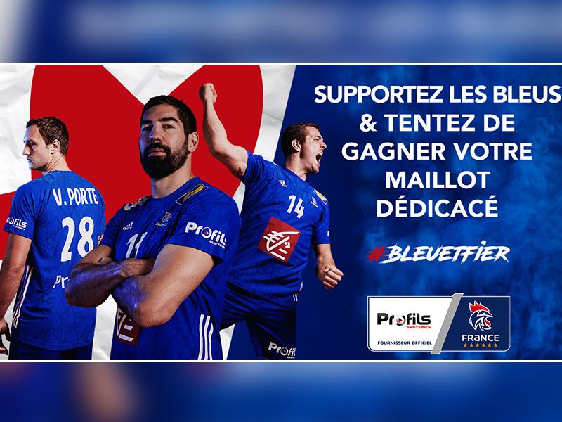 """Jeu-concours Facebook : """" Supportez les bleus et tentez de gagner votre maillot dédicacé """" - Batiweb"""