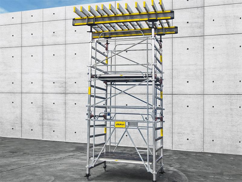La tour Excellence, une tour d'étaiement en aluminium intuitive, a été conçue pour offrir plus de confort et réduire les risques de troubles musculo-squelettiques