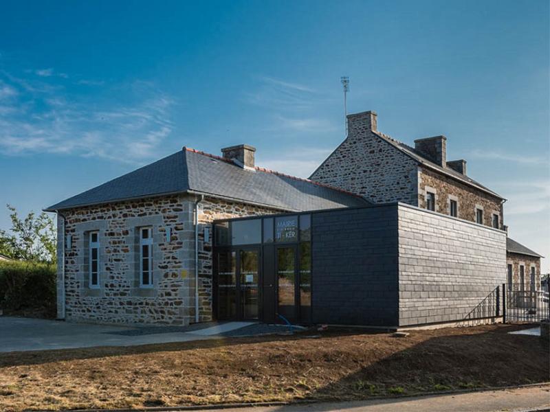 Extension de la mairie de Runan : un nouveau signal urbain - Batiweb