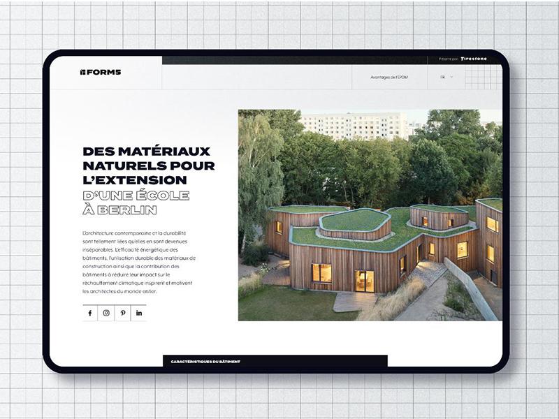 Lancement de la plateforme FORM5 : une source d'inspiration dédiée aux projets de toitures innovantes de EPDM - Batiweb