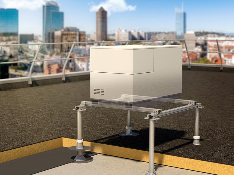 Sherpal F : Structure support pour équipements techniques (moteur de VMC, CTA ou autres), en toiture-terrasse - Batiweb