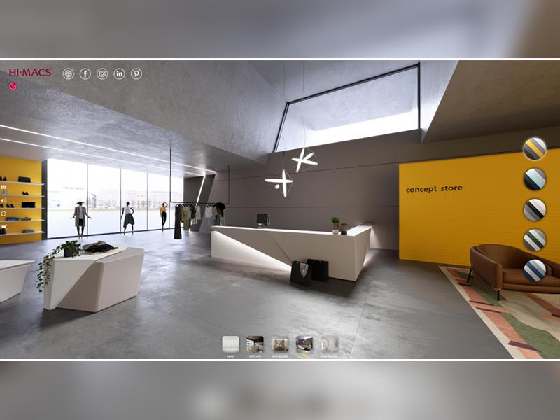 HI-MACS® lance un tout nouveau showroom interactif virtuel - Batiweb