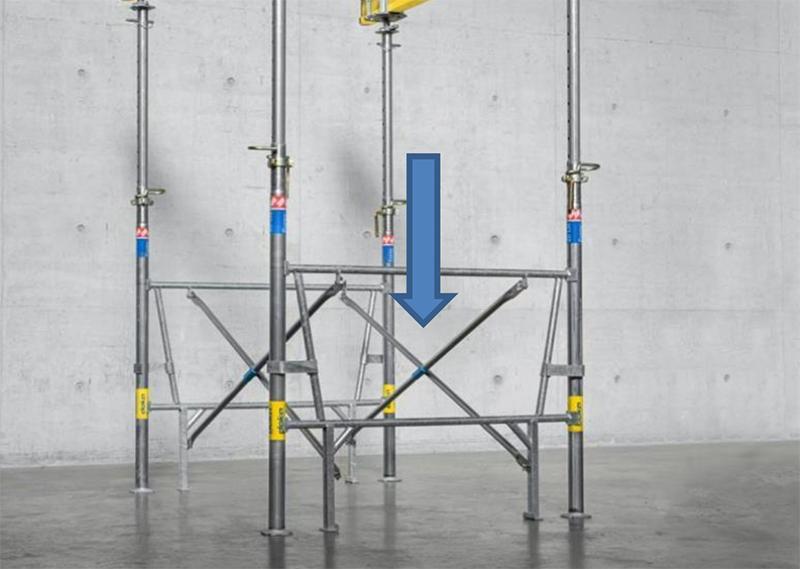 Grande adaptabilité sur site grâce aux différentes longueurs de croisillon de 1,5 m à 3 m