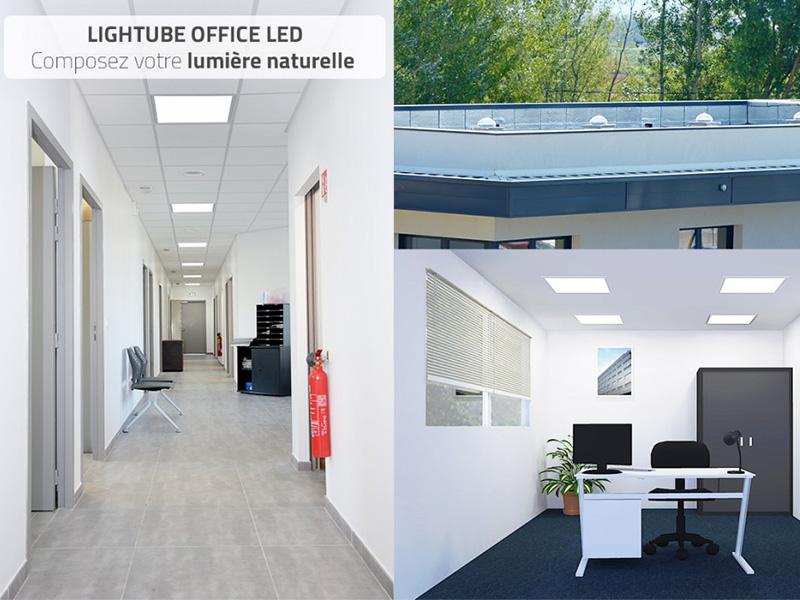 Innovation BLUETEK LIGHTUBE OFFICE LED : un conduit de lumière naturelle hybride - Batiweb