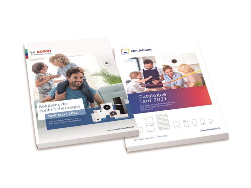 Bosch et elm.leblanc dévoilent leurs nouveaux catalogues : une année 2021 qui s'annonce riche en nouveautés ! - Batiweb