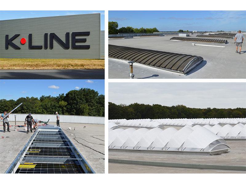 Feedback QVT & lumière naturelle au centre de l'usine K-LINE Les Herbiers - Batiweb