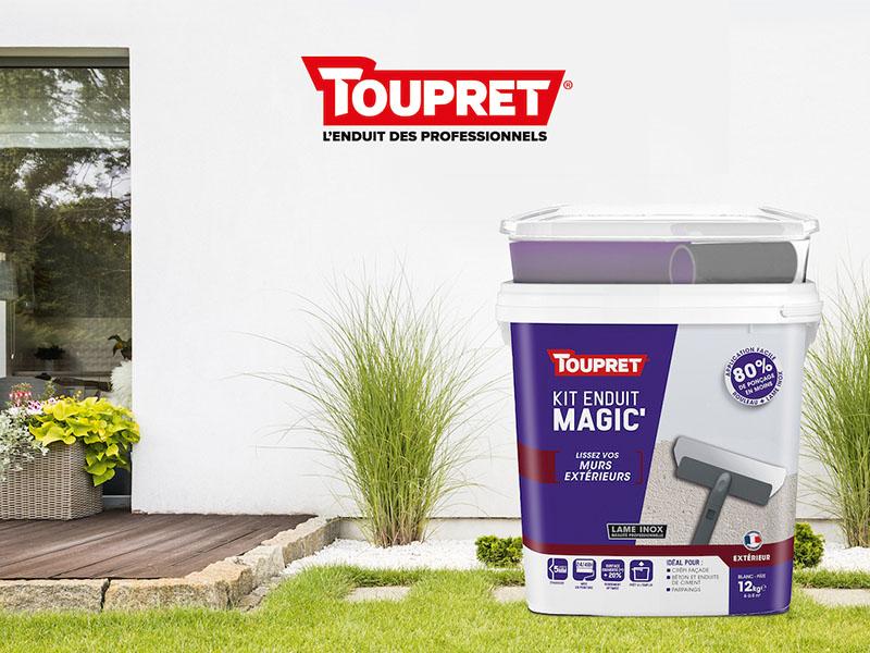 TOUPRET lance MAGIC'EXTÉRIEUR, un kit enduit complet pour une rénovation simple et durable en extérieur - Batiweb