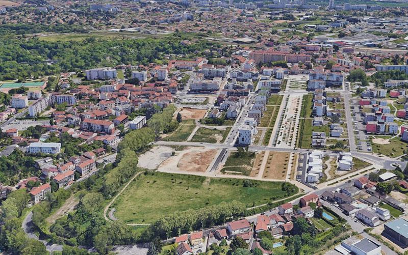 ZAC Castellane - Sathonay Camp, Crédit : https://earth.google.com