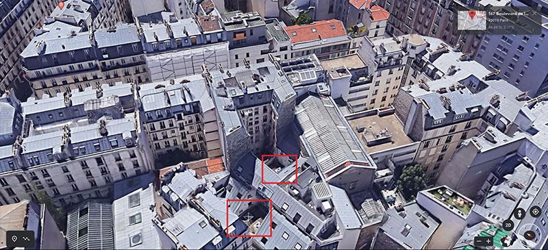 (Géolocalisation via Google Earth)