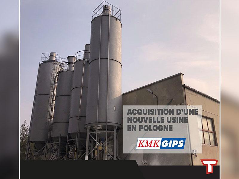 Le groupe français TOUPRET annonce l'acquisition du fabricant d'enduits polonais KMK GIPS - Batiweb