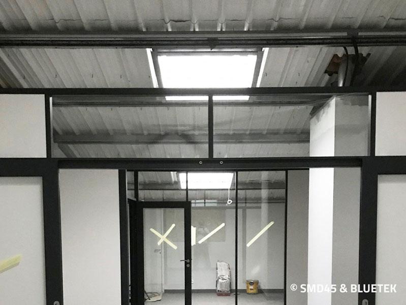 Rendu intérieur d'un lanterneau Steel Inside en toiture Sté Rocal (chantier en cours)