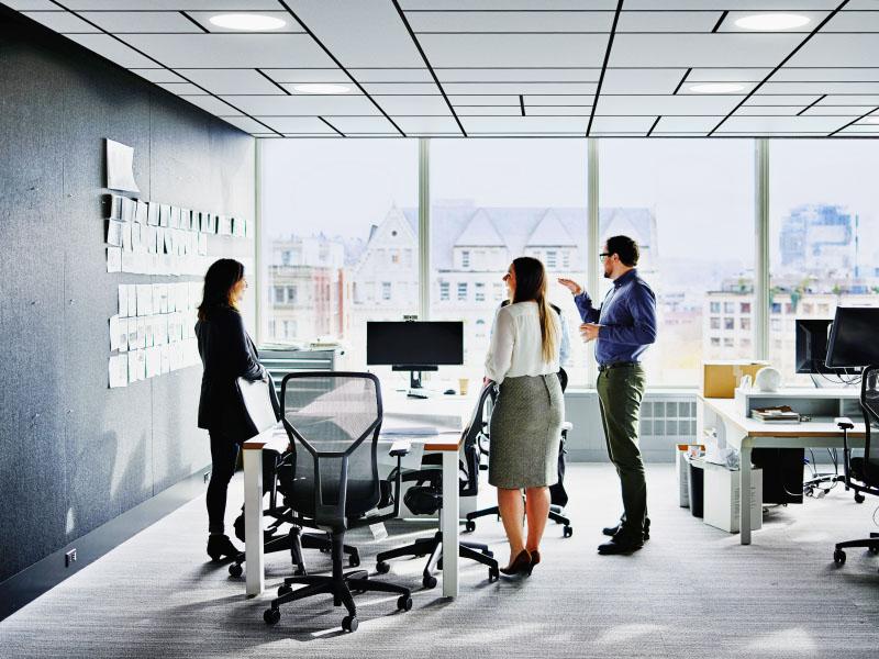 Ecophon Master™ Eg : le plafond flottant design pour concevoir des bureaux haut en confort - Batiweb
