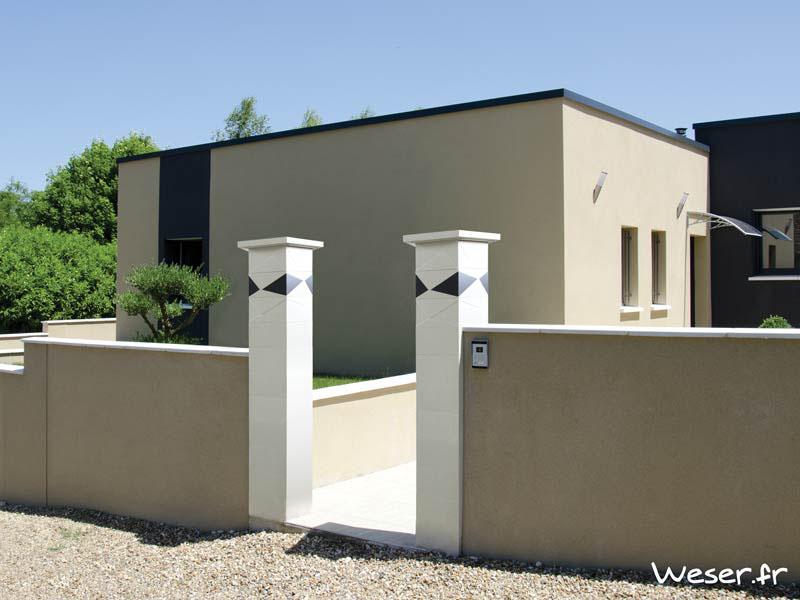 Les piliers de portail gamme contemporaine Weser - Batiweb