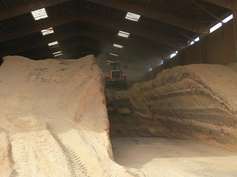 Biomasse stockée en millefeuilles