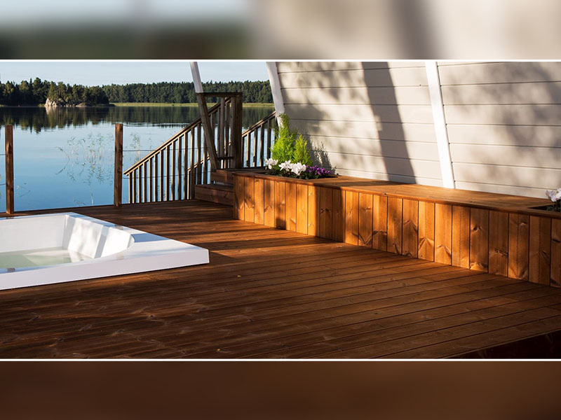 Terrasse bois avec piscine : une oasis dans son jardin - Batiweb