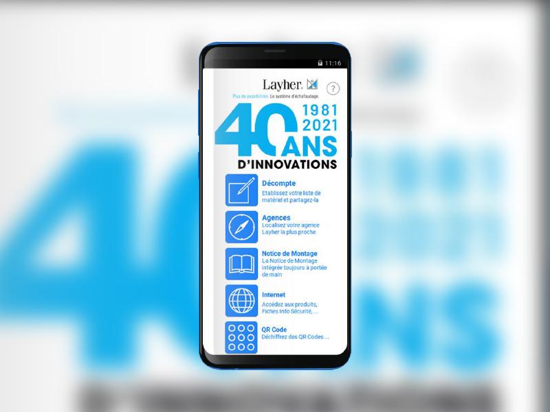 Nouvelles fonctionnalités pour l'application LAYHER ÉCHAFAUDAGES - Batiweb