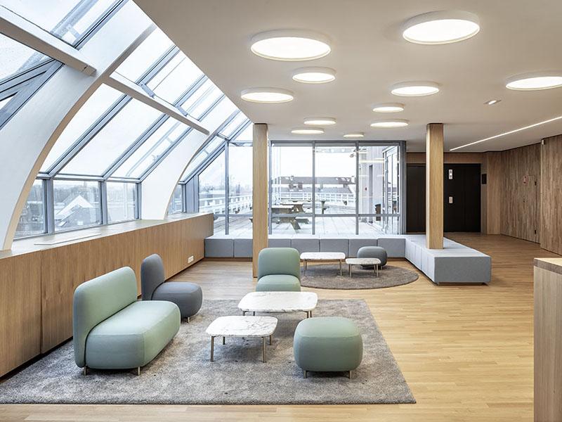 Le nouveau siège social d'Electricité de Strasbourg s'équipe de Rockfon Mono® Acoustic® - Batiweb
